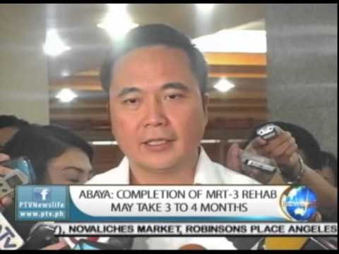 Abaya: Completion of MRT-3 rehab may take 3-4 months || Feb. 23, 2015