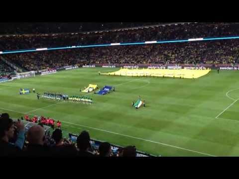 Sweden - Ireland @ Friends Arena, Stockholm - The Swedish National Anthem