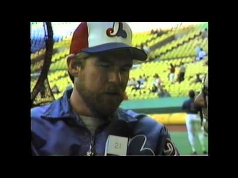 Expos Pitcher Bryn Smith - 1985