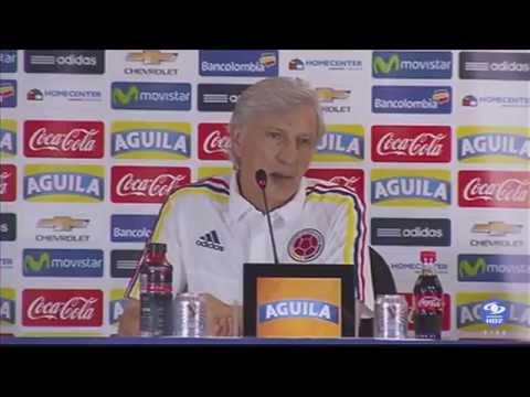 Rueda de prensa de José Pékerman, previa el juego Brasil vs. Colombia