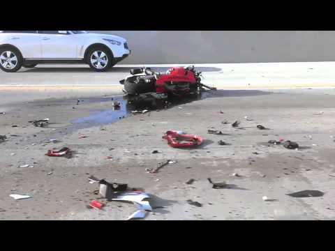 60 East Freeway motorcycle crash multiple cars friday 05-24-13