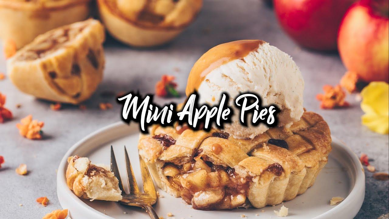 Mini Apple Pies - Vegane Apfelkuchen Törtchen * Rezept