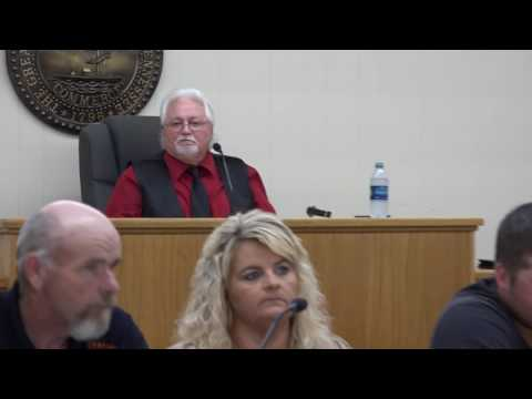 Fentress County Commission Special Meeting 6/22/17