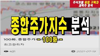 유튜브 멤버쉽 전용영상 (홈페이지 종합주가지수 분석 100화)