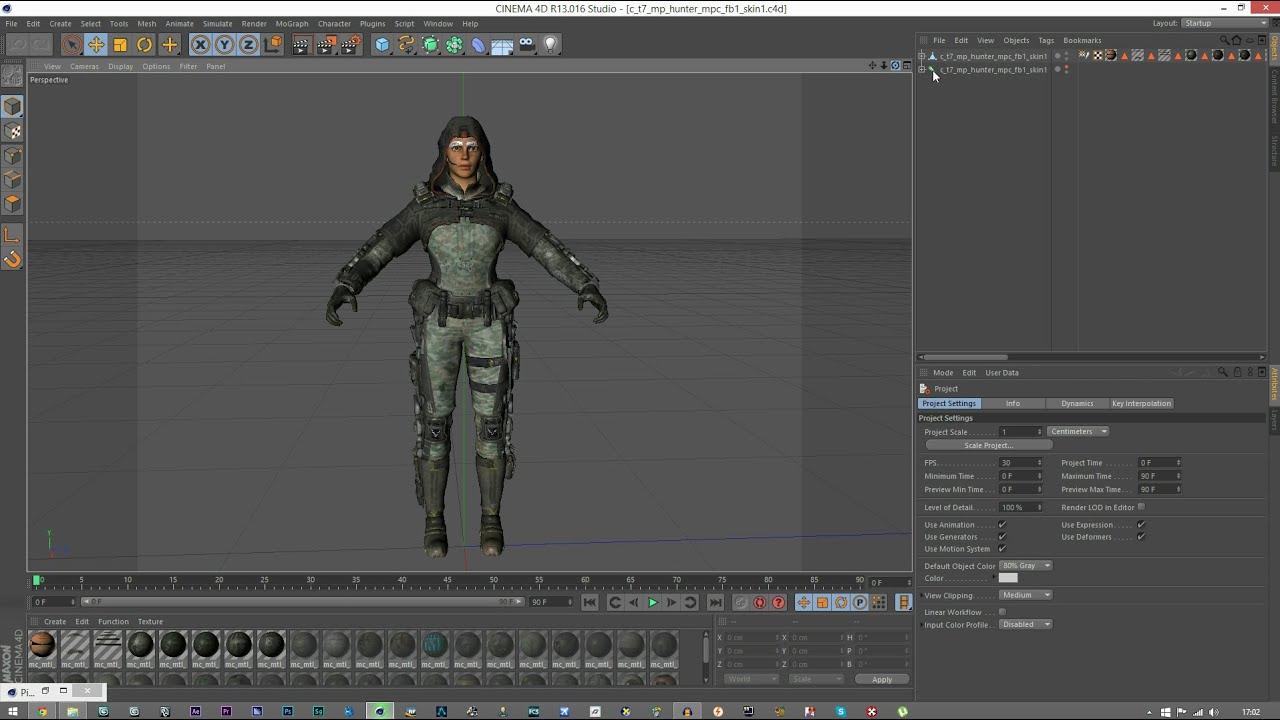 Cinema 4d Black Ops 3 Models Youtube