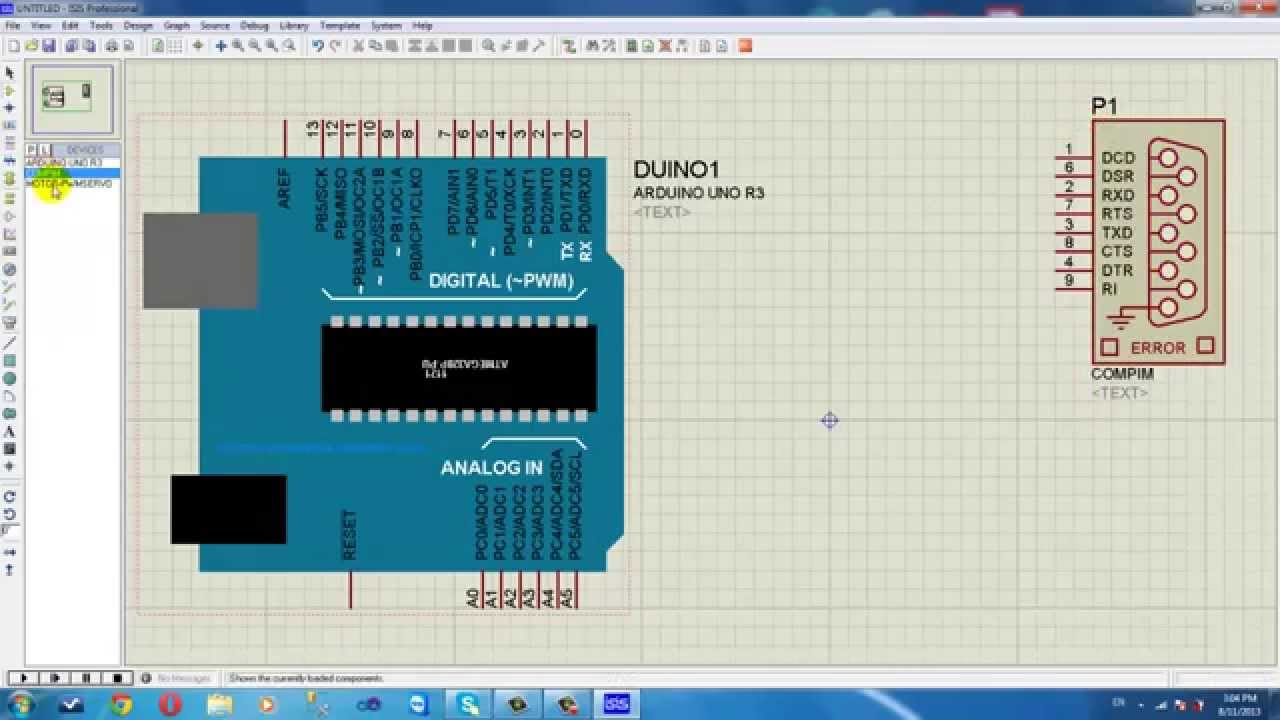 Proteus And Visual C Arduino Uno Simulator
