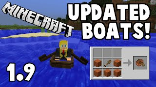 NEW BOATS IN MINECRAFT 1.9 // Bricksontheloose