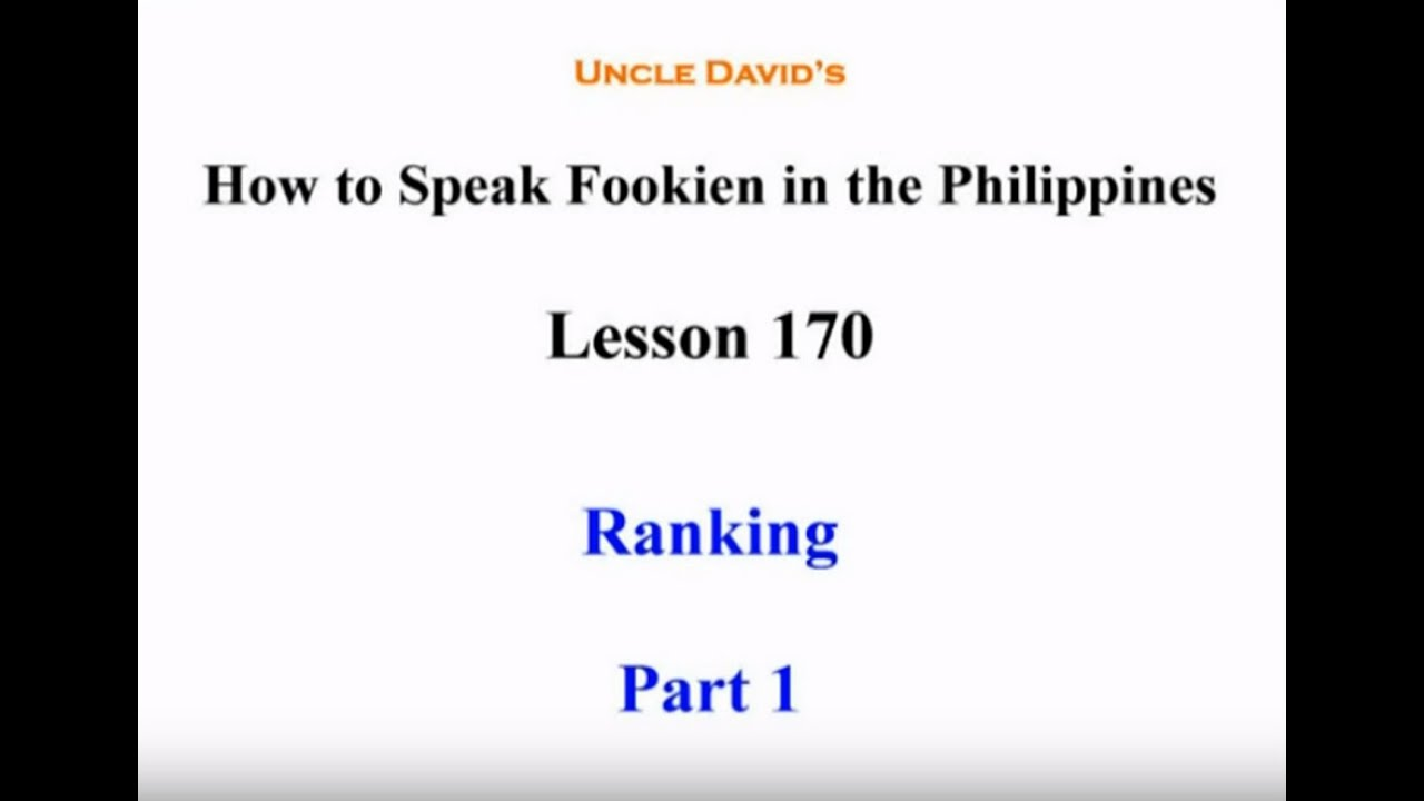 language fookien Taiwanese hokkien is the hokkien dialect of min nan as spoken by about 70 percent of the population of taiwanother language variants/dialects are spoken in taiwan as well.