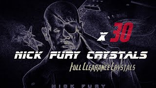 30 x Nick Fury Crystals!! 5-Star Nick!!! - Marvel Contest go Champions