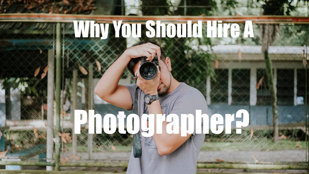 Hire A Photographer >> Why You Should Hire A Photographer Youtube