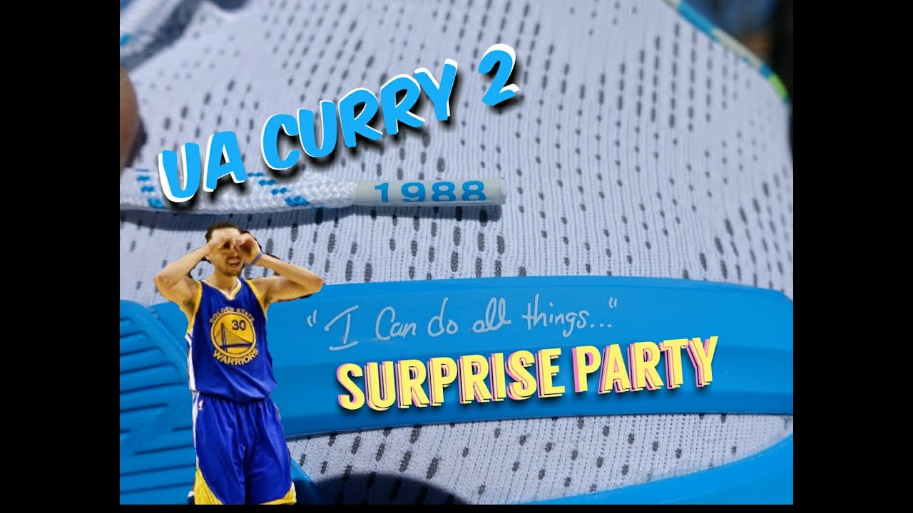 best sneakers 6d142 58700 Under Armour Curry 2 Surprise Party UnBoxing from footlocker