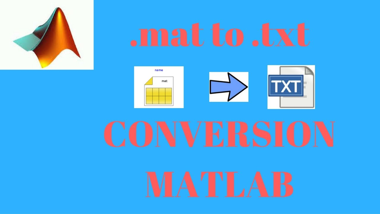 mat format to  txt conversion in MATLAB
