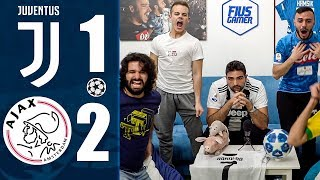 VERGOGNA! JUVENTUS 1-2 AJAX | REACTION LIVE w/Enry Lazza & Fiusgamer