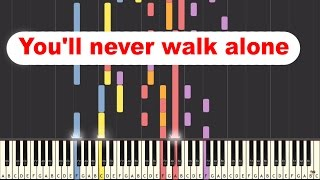 Lee Towers - You'll never walk alone on piano [SYNTHESIA]
