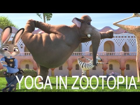 Yoga In Zootopia Animation Movies  -  Animation For Kids