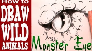 How to Draw a Monster Eye ( for Beginners- Spoken Tutorial)