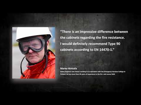Fire Performance Demonstration Of Three Types Of Safety Storage Cabinets For Flammables