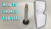 GE Washer Dryer Combo Leaking--Worn Out Tub Seal - YouTube on