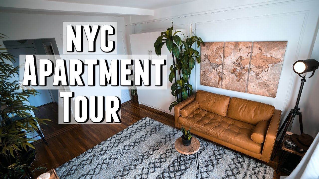 NYC Apartment Tour!! 300 sq. foot Minimalist Studio - YouTube