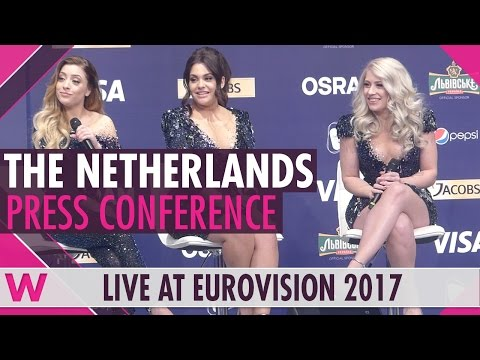 """The Netherlands Press Conference — O'G3NE """"Lights and Shadows"""" Eurovision 2017   wiwibloggs"""