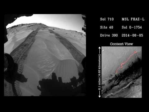 Watch five years of the Curiosity rover's travels in a five minute time-lapse