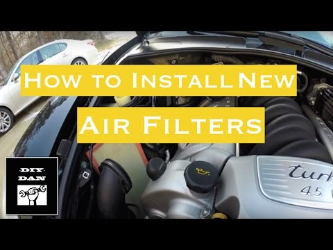 How To Install A Set of Air Filters On A Porsche Cayenne Turbo