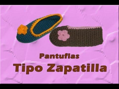 Pantuflas tipo zapatilla azules