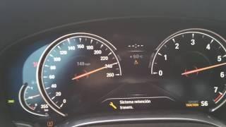 BMW 750li 2016 Race Start Acceleration V8 (450 HP) 0-240km/h G11/G12