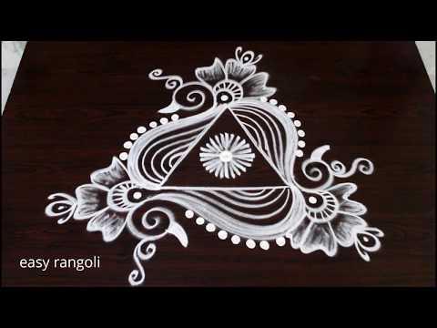 beautiful & creative arts * peacock rangoli kolam without dots * latest easy & simple muggulu