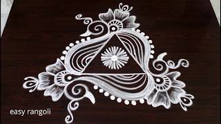 beautiful & creative arts * peacock rangoli kolam without dots * latest easy & simple muggulu