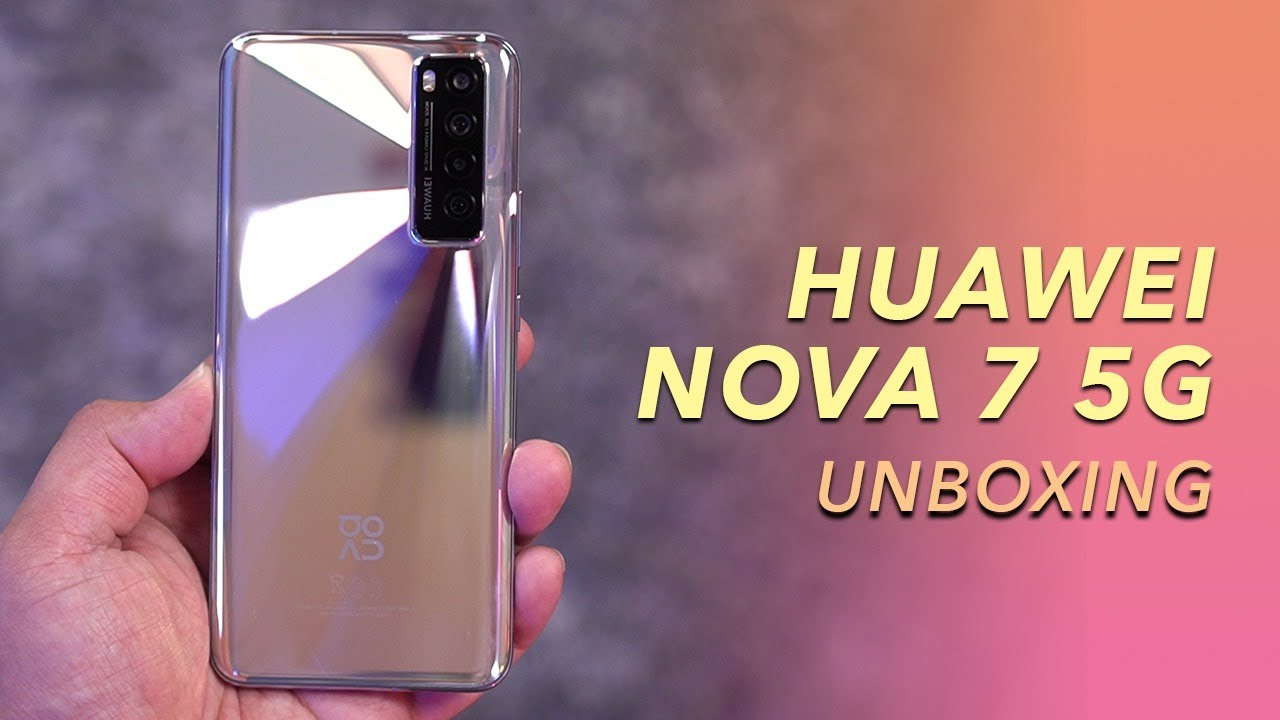 Huawei Nova 7 5G Unboxing (Taglish)