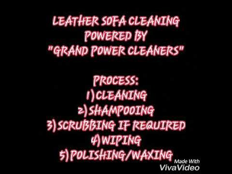 LEATHER SOFA CLEANING BY GRAND POWER CLEANER