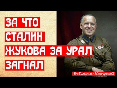 За что Сталин загнал Жукова за Урал 🧐
