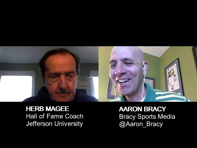 Hall of Fame Jefferson University basketball coach Herb Magee interviews with Bracy Sports Media