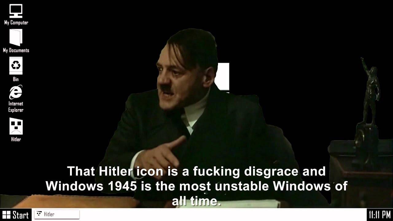 Hitler is informed he's installed on Windows 1945