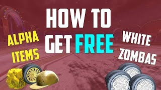 How to get FREE White Zombas & Alpha Items in Rocket League! (Alpha Console Tutorial)