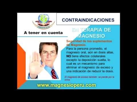 sintomas por exceso de cloruro de magnesio