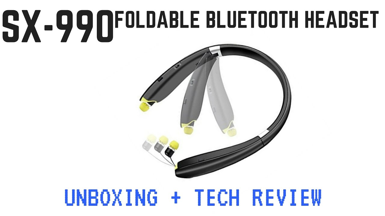 SX 990 -The $34 Foldable Bluetooth Headset | Unboxing and Review