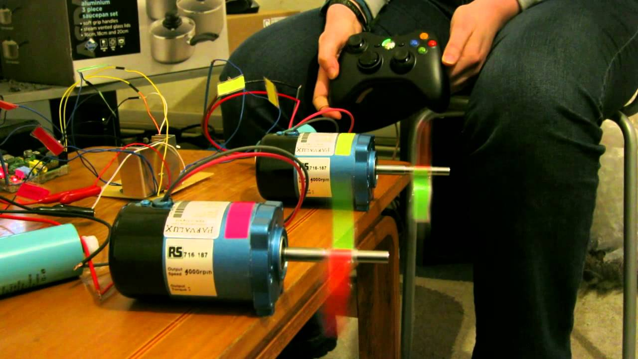 Wheelchair Motors Controlled By Xbox Controller With A