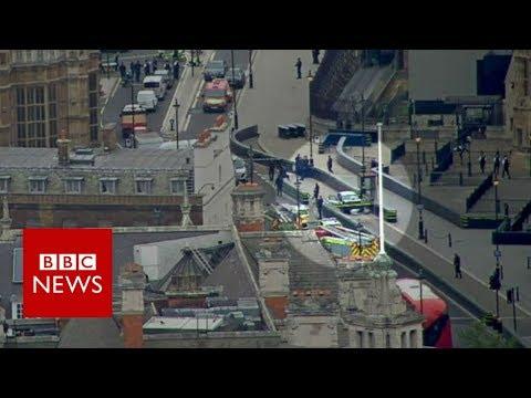 Westminster car crash: Man arrested as pedestrians injured - BBC News