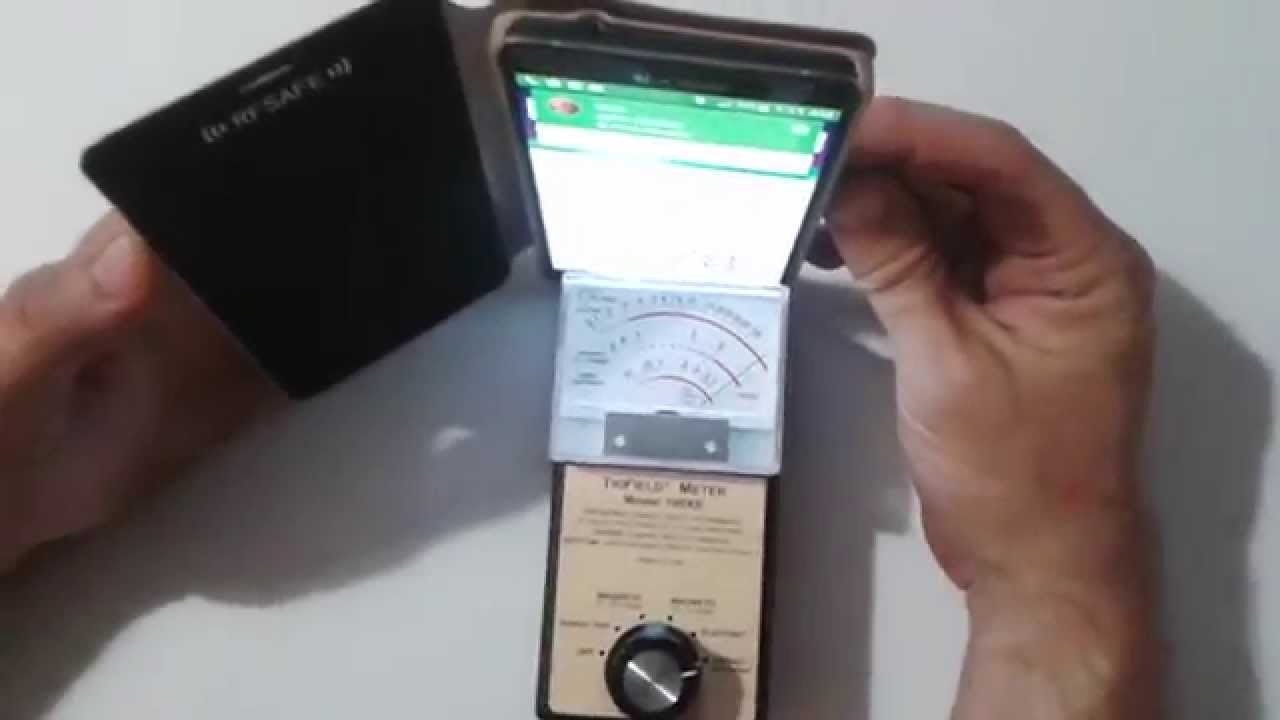 Samsung Galaxy Note 4 Radiation Levels Using Rf Safe Case Tested With Trifield Meter 100 Xe You