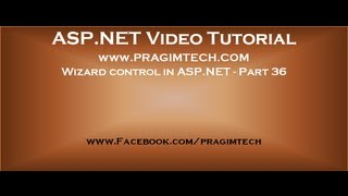 Wizard control in asp.net   Part 36