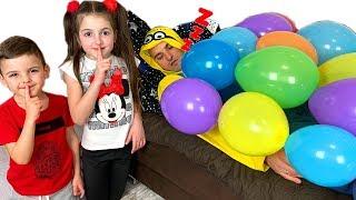 Vania and Masha Play with Funny Balloons  Fun Kids Playtime