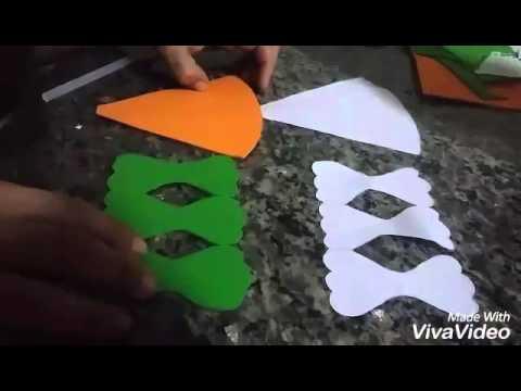 Cenoura Em E V A Super Facil Youtube