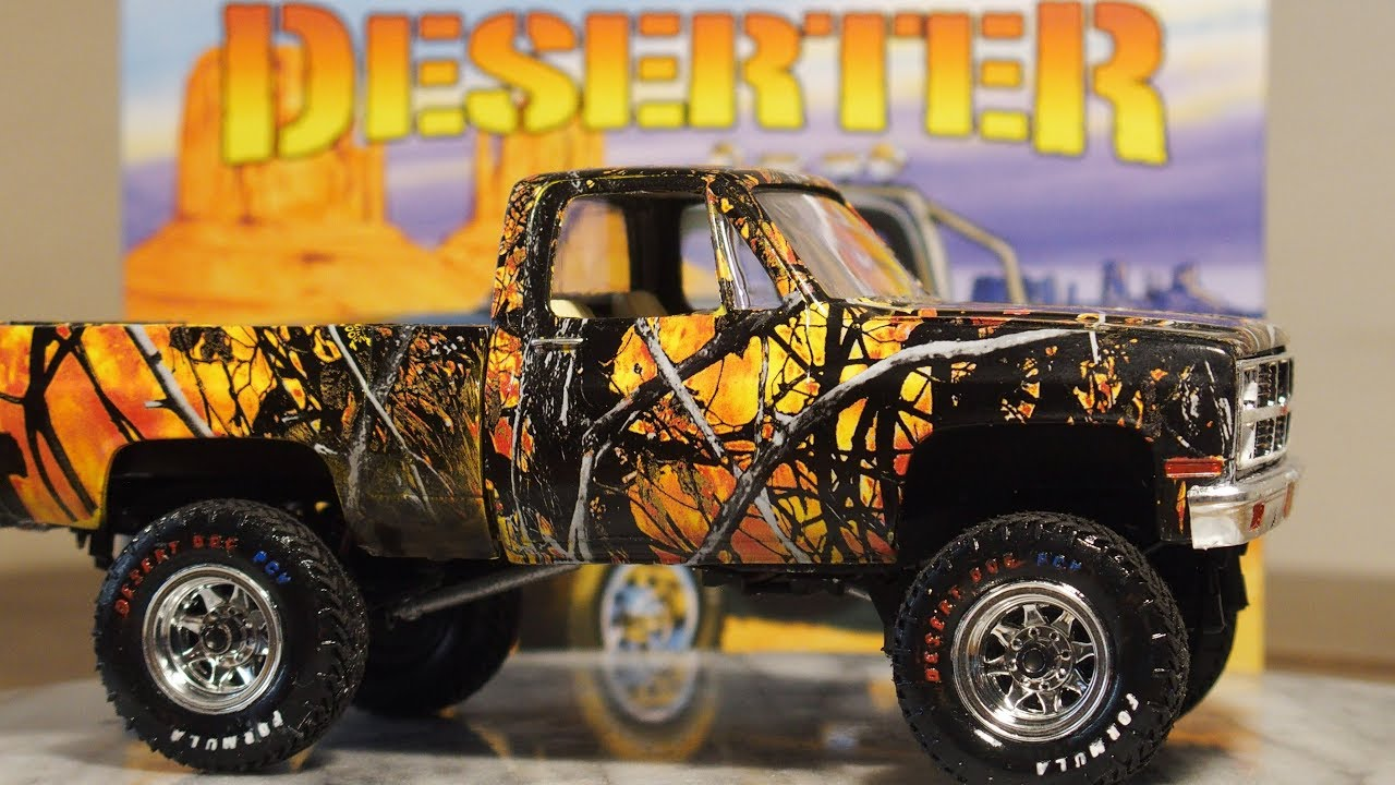 Deserter GMC 4x4 pickup Hydro dipped - YouTube