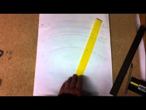 Diy Fretboard Radius Gauge Youtube