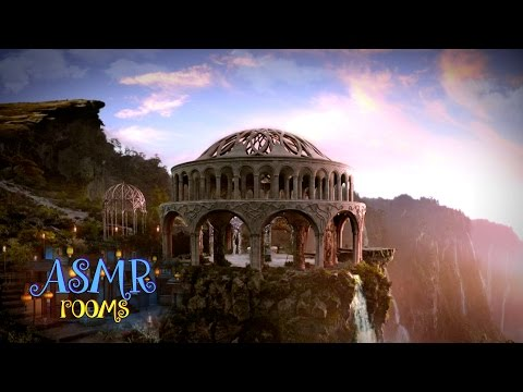 Lord Of The Rings Inspired ASMR - Rivendell - Ambience And Animation (Waterfall, Elvish Song, Birds)