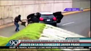 Delincuentes asaltaron a sujeto en plena Vía Expresa de Javier Prado