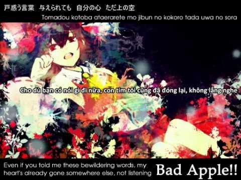 Vietsub/English/Romaji/Kanji - Bad Apple!! ( Yuyoyuppe's Arrangement)