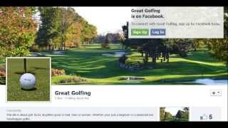 Great Golfing Golf Page on Facebook